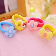 Plastic Cartoon Cute Baby Hair Ring Hair Rope Elastic Mixed Color Treasure Delivery 10 PCS