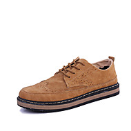 Men's Shoes Rubber Fall Comfort Oxfords for Outdoor Black Gray Brown