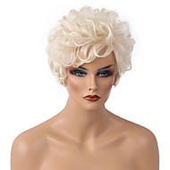 人間の毛のキャップレスウィッグ クラシック カール 高品質 ミディアムオーバーン ホワイト 日常