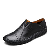 Men's Shoes Cowhide Spring Summer Comfort Moccasin Loafers & Slip-Ons For Casual Office & Career Gold Black Brown
