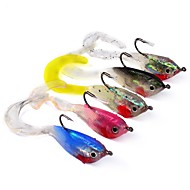 cheap Fishing-5 pcs Soft Bait Fishing Accessories Fishing Lures Jig head Shad Jig Head Jigs Soft Bait Lead Stainless Steel / Iron Silicon Sea Fishing