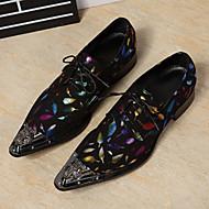 baratos Sapatos Masculinos-Homens Couro Primavera / Outono Conforto / Inovador / Sapatos formais Oxfords Caminhada Azul / Casamento / Festas & Noite