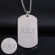 2mm thick plate in the classic card side light titanium accessories processing stainless steel engraving Dog Tag