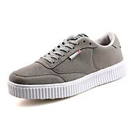 Erkek Ayakkabı PU Yaz Sonbahar Rahat Spor Ayakkabısı Bağcıklı Uyumluluk Atletik Günlük Siyah Gri Kırmzı