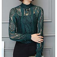 Bluza Ženske,Jednostavno Ležerno/za svaki dan Jednobojni-Dugih rukava Uski okrugli izrez Poliester Spandex
