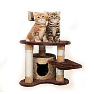 Hračka pro kočky Hračky pro zvířata Interaktivní Škrabadlo Odolné Dřevo