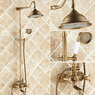cheap Shower Faucets-Shower Faucet - Antique Antique Copper Centerset Ceramic Valve