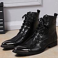 Masculino-Botas-Sapatos formaisPreto-Pele Napa-Ar-Livre Escritório & Trabalho Casual Festas & Noite