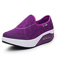 billige Træningssko til damer-Dame Sko Tyl Sommer Komfort / Lysende såler Sneakers Lave hæle Rund Tå Lilla / Blå / Lys pink