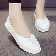 Damă Pantofi Pânză Primăvară Toamnă Confortabili Mocasini & Balerini Toc Plat Pentru Casual Alb Negru