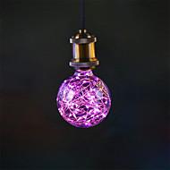 3W e27 levou lâmpadas de filamento g95 33 integrar led 300lm rosa decorativo ac 85-265v