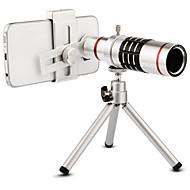 billiga Mobil cases & Skärmskydd-Högkvalitativ 18x zoom optisk teleskop telefoto lins kit telefonkamera linser med stativ för iphone 6 7 samsung s7 xiaomi mi6