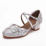 billige Moderne sko-Sko til latindans Lær Sandaler Spenne Tykk hæl Kan ikke spesialtilpasses Dansesko Gull / Sølv / Profesjonell