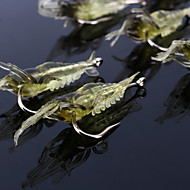 "cheap Fishing-10 pcs Soft Bait Fishing Hooks Fishing Lures Soft Bait Jerkbaits Craws / Shrimp g / Ounce, 68 mm / 2-1/8"" 2-11/16"" inch, Soft Plastic"