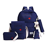 Women Bags All Seasons Canvas Backpack for Casual Sports Black Blushing Pink Gray Navy Blue Light Blue