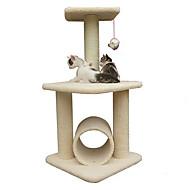 Kissan lelu Lemmikkieläinten lelut Interaktiivinen Raapimisalusta Kestävä Puu Sisal