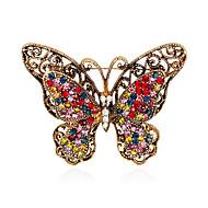 hesapli -Kadın's Genç Kız Broşlar Hayvan Tasarımı Euramerican Moda Yapay Elmas alaşım Hayvan Çeşitli Renk Mücevher Uyumluluk Düğün Parti Özel