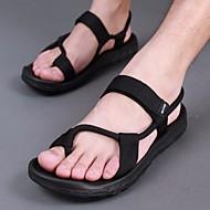メンズ 靴 PUレザー 夏 スリングバック サンダル のために カジュアル ブラック キャメル