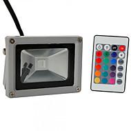 Hkv® 1ks 10w 900-1000 lm rgb vodotěsný festoon vedl světlomet integrát led ac85-265 v