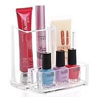 quadrate sminke oppbevaring stående børste potten holder kosmetisk arrangør for leppestift neglelakk