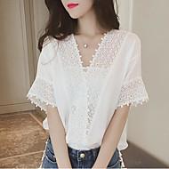 Bluza Žene Jednobojni V izrez Čipka Poliester