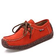 Dame-Lær Semsket lær-Flat hæl-Lette såler-Flate sko-Friluft Kontor og arbeid Fritid-