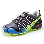 Homens sapatos Couro Ecológico Primavera Outono Conforto Tênis Corrida Cadarço para Atlético Casual Ao ar livre Azul Escuro Cinzento