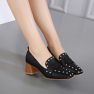 Women's Shoes Rubber PU Spring Summer T-Strap Comfort Boots Rivet For Casual Black