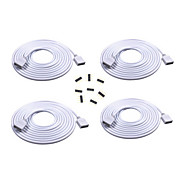 cheap Lamp Bases & Connectors-4PCS 2M Long Extension Cable Connect Female Plug For RGB 3528 5050 Strip With 8pcs 4pin Connectors Male