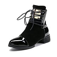 Feminino-Botas-Sapatos clube-Salto Baixo Salto Grosso--Camurça Couro Ecológico-Ar-Livre Escritório & Trabalho Social
