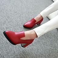 Damen Schuhe Leder PU Frühling Komfort Sandalen Für Normal Schwarz Rot Königsblau