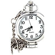 남성용 패션 시계 손목 시계 회중 시계 석영 합금 밴드 실버
