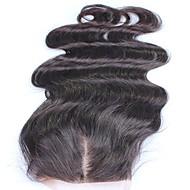 billige -Blonder lukning 10-18 peruvian jomfruhår gratis del 100% menneskelig hår naturlig farge 4x4