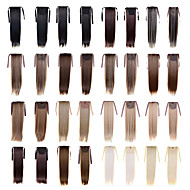 High Quality High Temperature Synthetic Fiber 22 Inch Long Straight Ribbon Ponytail Hairpiece - 16 Colors Available