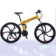 levne Výprodej-Horské kolo / Skládací kola Cyklistika 27 Speed 26 palců / 700CC Shimano Dvojitá kotoučová brzda Odpružená vidlice Skládací Běžný Hliník