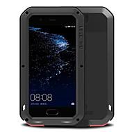 billiga Mobil cases & Skärmskydd-fodral Till Huawei Vattenavvisande Stötsäker Fodral Ensfärgat Hårt Metall för P10 Plus P10 Huawei