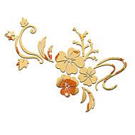 Karton Aynalar Çiçekler Duvar Etiketler 3D Duvar Çıkartması Duvar Stikerları Dekoratif Duvar Çıkartmaları,Arkilik Malzeme Ev dekorasyonu