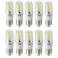 tanie Więcej Kupujesz, Więcej Oszczędzasz-10pcs 5W 144 lm E27 Żarówka dekoracyjna LED T 6 Diody lED COB Ciepła biel Zimna biel AC 85-265V AC 12V