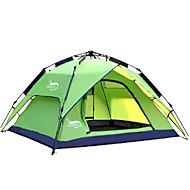 DesertFox® 4 person Automatisk Tält Utomhus Vattentät Regnsäker Dubbelt lager Automatisk Kupol Tält 2000-3000 mm för Camping oxford 180*210*118 cm