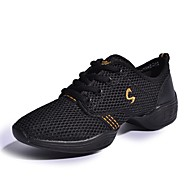 """cheap Dance Sneakers-Women's Dance Sneakers Synthetic Leather Sneaker Performance Low Heel White Fuchsia Pink/Black Black/Gold 1"""" - 1 3/4"""" Non Customizable"""