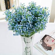 billige Kunstige blomster-9 Gren Polyester Brudeslør Bordblomst Kunstige blomster