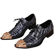 baratos Sapatos de Tamanho Pequeno-Homens Sapatos formais Pele Napa Primavera / Outono Oxfords Dourado / Festas & Noite