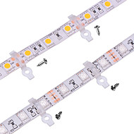 100-pack-strip licht montage beugel clip voor outdoor siliconen bedekte 10mm brede pcb waterdichte smd5050 led strips