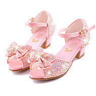 Girls' Sandals Summer Fall Comfort Novelty Flower Girl Shoes Microfibre Wedding Party & Evening Dress Casual Flat Heel Bowknot Buckle