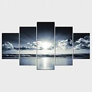 Aufgespannte Leinwandrucke Landschaft Modern,Fünf Panele Leinwand jede Form Druck Wand Dekoration For Haus Dekoration