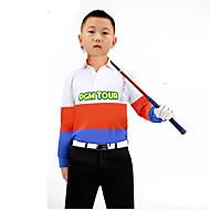 Kinder Langarm Golf Halstücher Oberteile Atmungsaktiv Schweißableitend Komfortabel Golfspiel Freizeit Sport