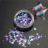 1bottle móda čirý stylu modři nehty výtvarné smíšené pestré barvitý lasera třpytky rozkrájíme nehty výtvarné růženka paillette p16