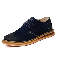 baratos Sapatos Masculinos-Homens Sapatos de camurça Pele Primavera / Verão / Outono Botas Caminhada Botas Curtas / Ankle Azul Marinho / Azul / Khaki