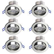 billige Spotlys med LED-6pcs 7W 700lm 7 LED Panellys Kjølig hvit 100-240V Hjemmebruk Entré / trapper Soveværelse Kjøkken Hjem / kontor