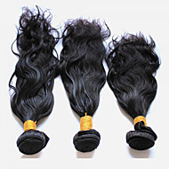 3Pcs/150g 8-28Peruvian Virgin Hair Natural Wave Natural Black Human Hair Weft.